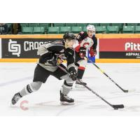 Vancouver Giants defenceman Dylan Plouffe against the Prince George Cougars