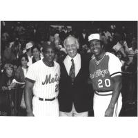 Willie Mays, Coca-Cola President Harvey Anderson and Rochester Red Wings Manager Frank Robinson