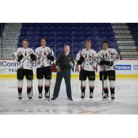 Vancouver Giants in their Don Cherry themed jerseys