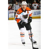 Forward Corban Knight with the Lehigh Valley Phantoms