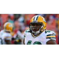 Fullback Alstevis Squirewell with the Green Bay Packers