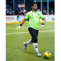 Dallas Sidekicks goalkeeper Juan Gamboa