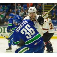 Cleveland Monsters battle the Utica Comets