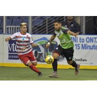 Ontario Fury midfielder Andy Reyes targets a loose ball vs. the El Paso Coyotes