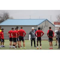 Chattanooga Red Wolves SC in training