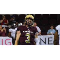 Quarterback Jonathan Bane with the Maine Mammoths