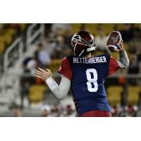Memphis Express quarterback Zach Mettenberger against the Orlando Apollos