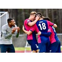Tormenta FC celebrates a goal against the Tampa Bay Rowdies