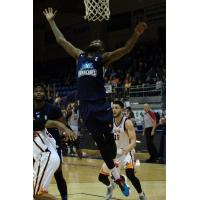 Halifax Hurricanes guard Terry Thomas vs. the Island Storm