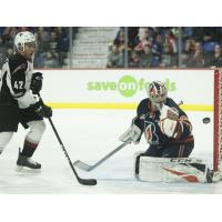 Vancouver Giants centre Justin Sourdif vs. the Kamloops Blazers
