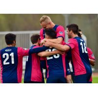 Tormenta FC celebrate during the preseason
