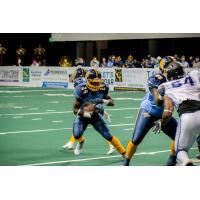 Cedar Rapids River Kings running back Nate Chavious vs. the San Diego Strike Force