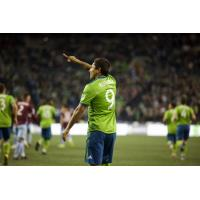 Raul Ruidi­az is one of three Seattle Sounders FC players leading the team with two goals through two games this season