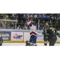 Saginaw Spirit celebrate against the London Knights
