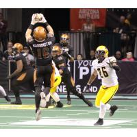 Arizona Rattlers WR Jarrod Harrington makes a leaping catch against the Tucson Sugar Skulls