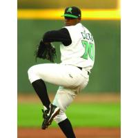 Johnny Cueto pitching for the Dayton Dragons