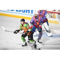Cleveland Monsters in Teenage Mutant Ninja Turtles jerseys vs. the Rochester Americans