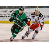 Texas Star center Justin Dowling vs. the Grand Rapids Griffins