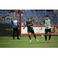 Ontario Fury midfielder Jermaine Jones (center) vs. the El Paso Coyotes