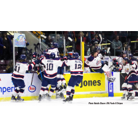 Saginaw Spirit celebrate OT, series-clinching win