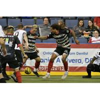 Ontario Fury maintain possession against the Turlock Express