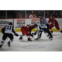 Allen Americans face off with the Wichita Thunder