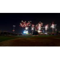 Fireworks over Spectrum Field, home of the Clearwater Threshers