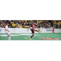 Andrew Hoxie of the Baltimore Blast (right)