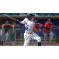 Jake Holmes at bat for the Lakewood BlueClaws