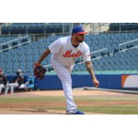 Syracuse Mets pitcher Hector Santiago struck out seven batters in five innings pitched on Wednesday afternoon