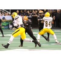 Arizona Rattlers with a tackle against the Tucson Sugar Skulls