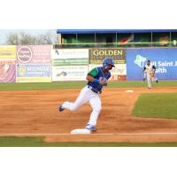 Michael Gigliotti of the Lexington Legends rounds third