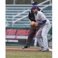 Syracuse Mets first baseman Travis Taijeron homered twice on Saturday afternoon