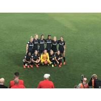 North Carolina Courage pose at their home opener
