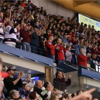 South Carolina Stingrays fans cheer on their team