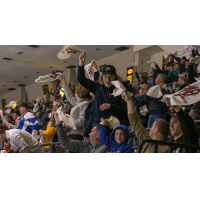 Saginaw Spirit fans cheer on their team