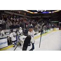 Sioux Falls Stampede exchange congratulations after OT win, series victory