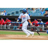 Adeiny Hechavarri�a helped lead the Syracuse Mets to a win on Thursday afternoon with four hits and three RBIs