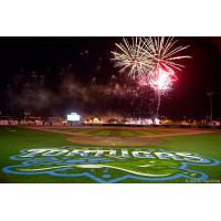 Fireworks over Radiology Associates Field at Jackie Robinson Ballpark, home of the Daytona Tortugas