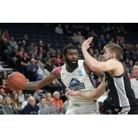 Halifax Hurricanes SG Terry Thomas against the Moncton Magic