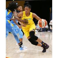Kelsey Mitchell of the Indiana Fever vs. the Chicago Sky