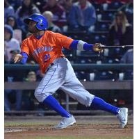 Rajai Davis of the Syracuse Mets reached base four times with two hits and two walks on Wednesday night at Lehigh Valley
