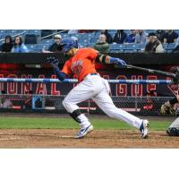 Carlos Gomez had two hits on Friday night for the Syracuse Mets