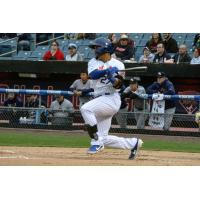 Carlos Gomez hit a game-tying home run in the bottom of the ninth inning for Syracuse Mets on Saturday evening
