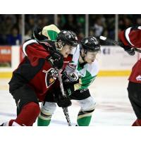 Vancouver Giants battle the Prince Albert Raiders