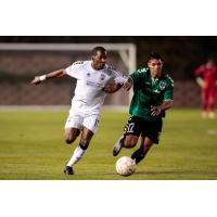 Colorado Springs Switchbacks FC right winger Saeed Robinson (left)