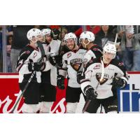 Vancouver Giants celebrate a goal in Game 5