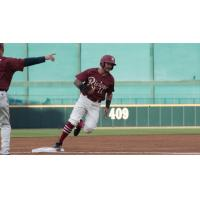 Frisco RoughRiders second baseman Christian Lopes heads for home
