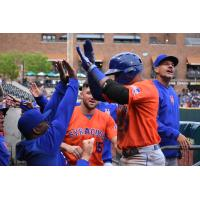 The Syracuse Mets won two of the three games played against the Columbus Clippers this weekend