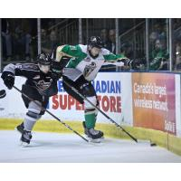 Dylan Plouffe of the Vancouver Giants against the Prince Albert Raiders in Game 6